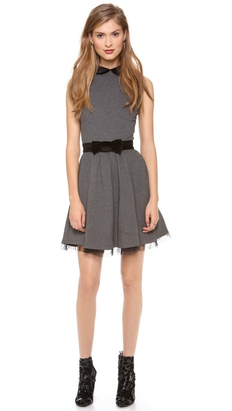 RED Valentino Bow Belt Collar Dress