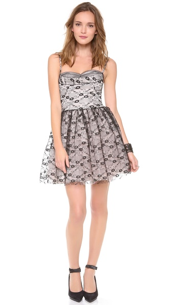 RED Valentino Lace Bustier Dress