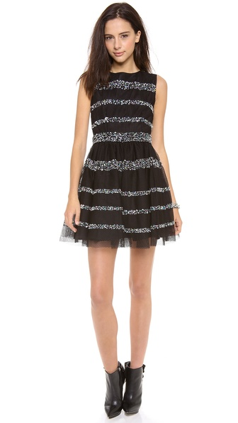 RED Valentino Jewel Striped Dress