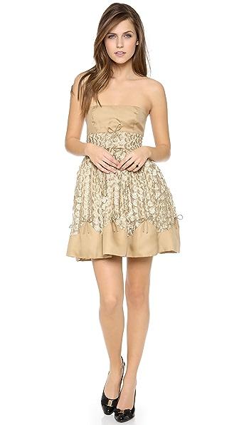 RED Valentino Golden Puff Dress
