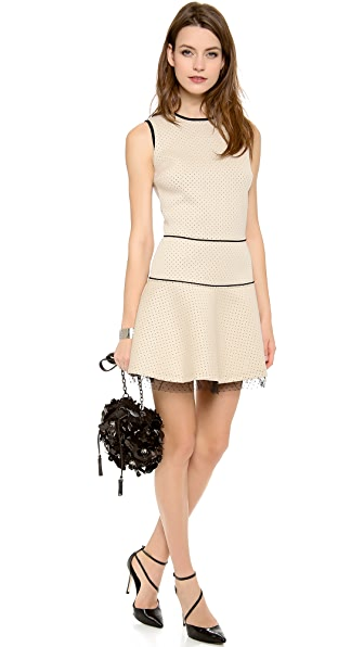 RED Valentino Dots & Lace Dress