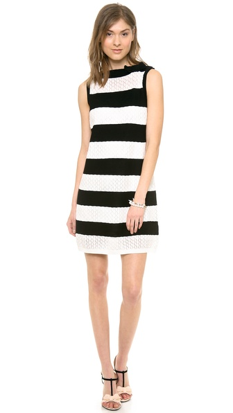 RED Valentino Stripe Shift Dress