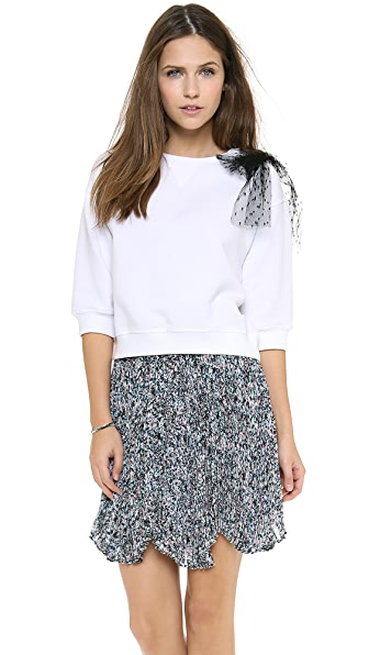 RED Valentino Bow Shoulder Sweatshirt