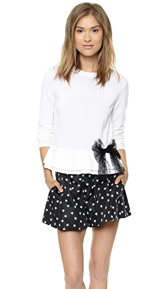 RED Valentino Peplum Bow Sweater