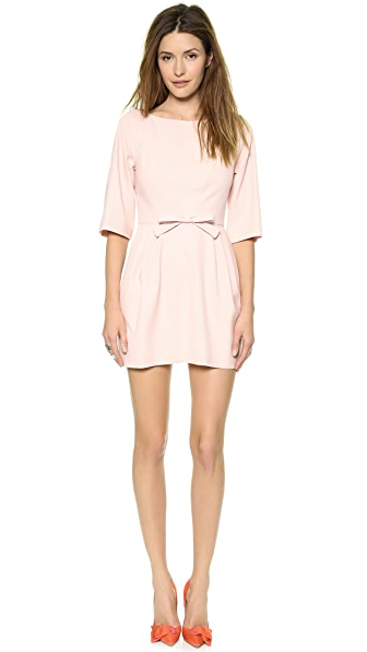 RED Valentino V Back Princess Seam Bow Dress