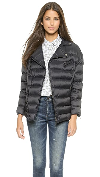 Red Valentino Zip Up Puffer Jacket - Navy