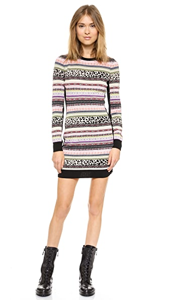 RED Valentino Knit Body Con Dress
