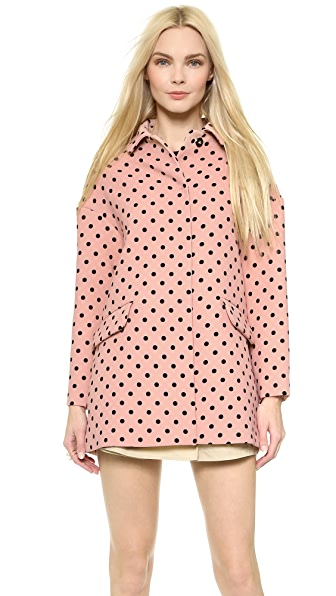 Red Valentino Polka Dot Coat - Nude