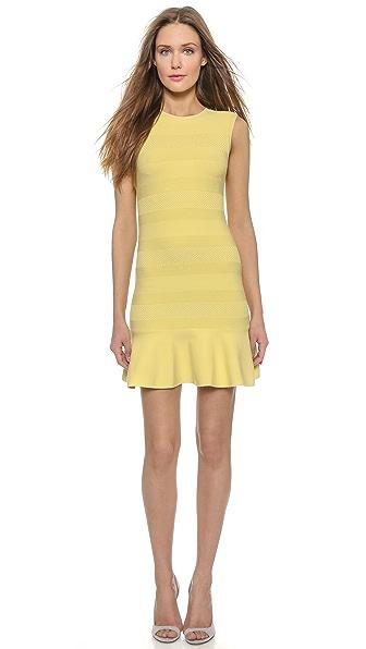 Kupi RED Valentino haljinu online i raspordaja za kupiti Red Valentino Sleeveless Knit Flare Dress Dandelion online