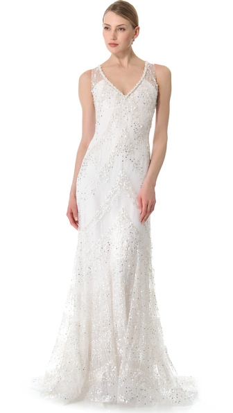 Reem Acra Sunset Boulevard Gown