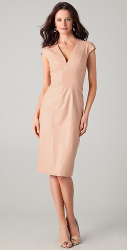 Reem Acra Nappa Leather Dress