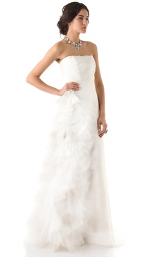 Reem Acra Simple Beauty Strapless Dress