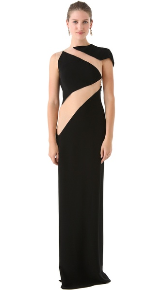 Reem Acra Cutout Gown