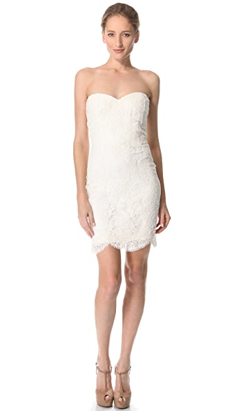 Reem Acra Lace Me Up Mini Dress