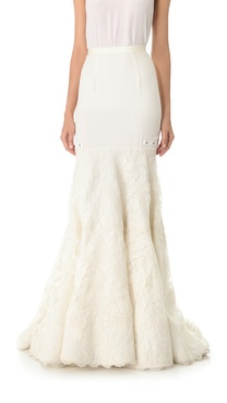 Reem Acra Lace Me Up Skirt