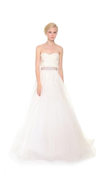 Reem Acra Strapless Gown