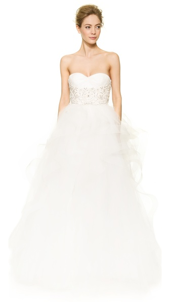 Reem Acra Isabella Sweetheart Tulle Gown