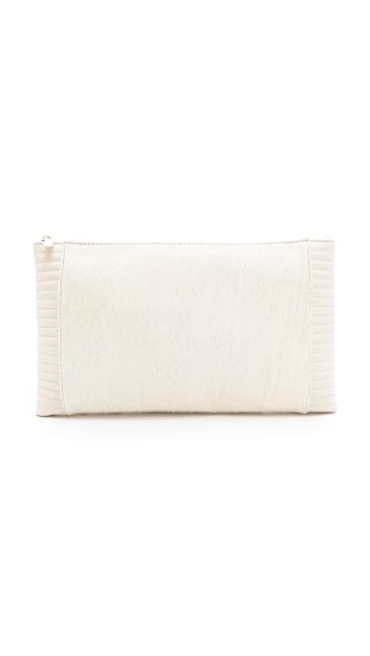 Reece Hudson Bowery Haircalf Oversized Clutch