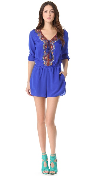 Renzo + Kai Embroidered Romper