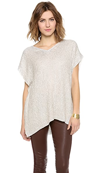 Renzo + Kai V Neck Sequin Tunic