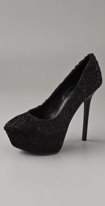 Report Signature Linnet Lace Platform Pumps