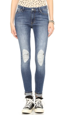 RES Denim Kitty Skinny Distressed Jeans