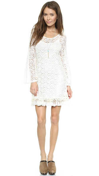 Reverse Lace Shift Dress