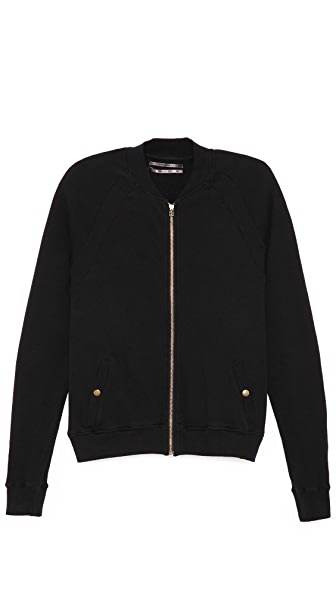 Robert Geller Seconds Sweatshirt Bomber Jacket