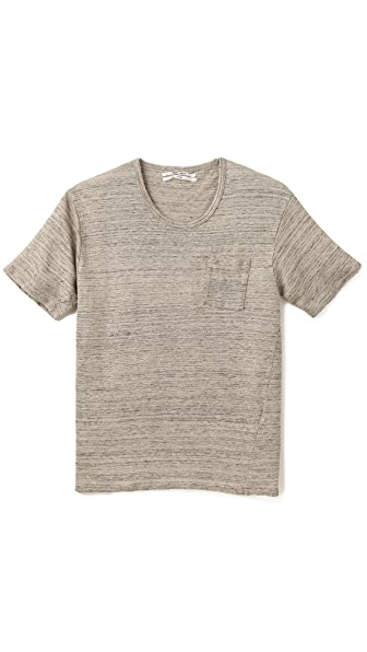 Robert Geller Linen Pocket T-Shirt
