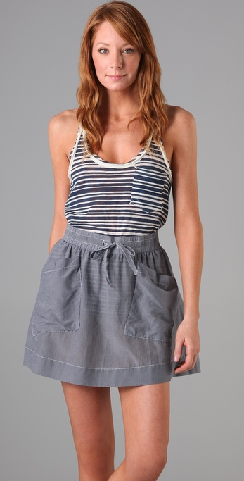 Rag & Bone/JEAN Striped Racer Tank