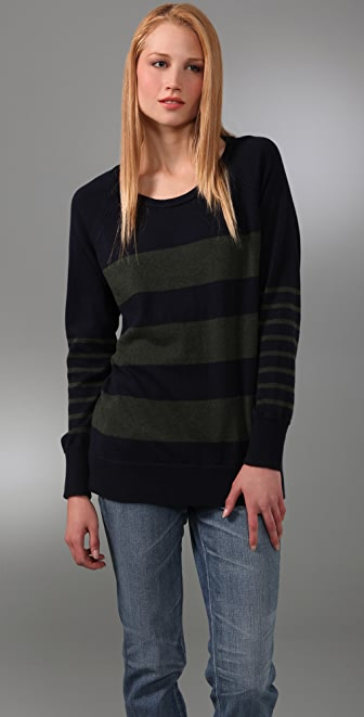 Rag & Bone/JEAN Stripe Raglan Sweater