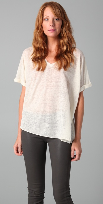 Rag & Bone/JEAN The Oversized V Neck Top