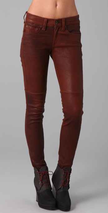Rag & Bone/JEAN Skinny Leather Pants