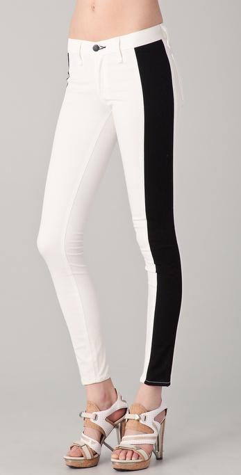 Rag & Bone/JEAN Split Skinny Jeans