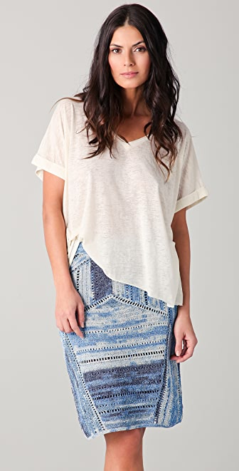 Rag & Bone/JEAN Oversized V Neck Tee