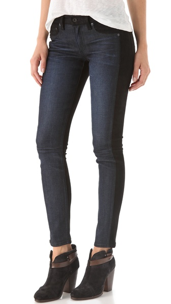 Rag & Bone/JEAN Jekyll Jeans with Suede
