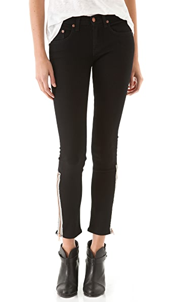 Rag & Bone/JEAN Exposed Zipper Skinny Jeans