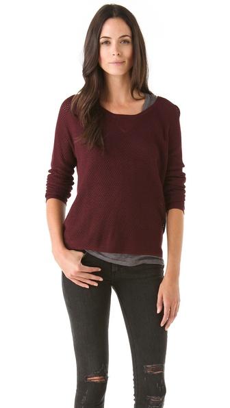Rag & Bone/JEAN Raglan Perforated Sweater