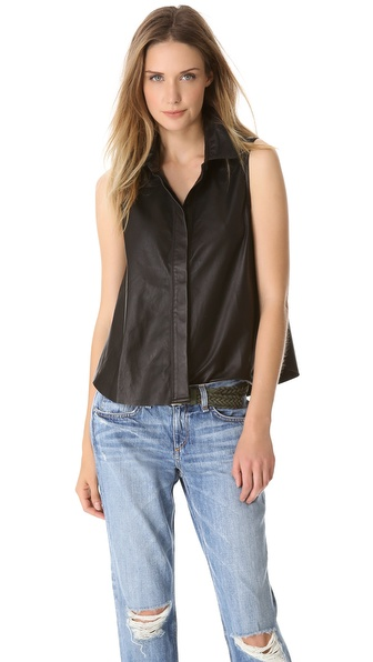 Rag & Bone/JEAN Leather Tent Tank