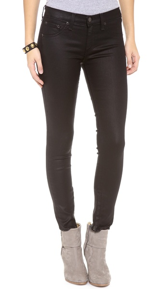 Rag & Bone/JEAN Zipper Cropped Legging Jeans