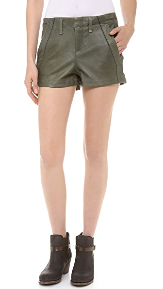 Rag & Bone/JEAN Leather Separating Shorts