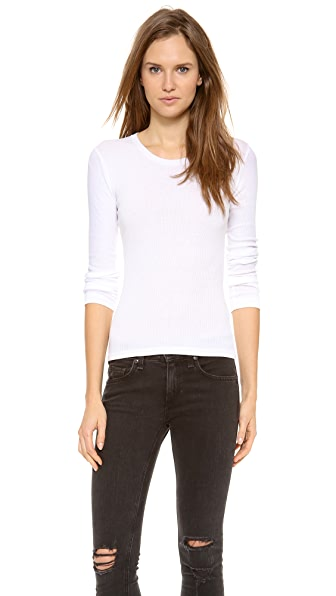 Rag & Bone/JEAN The Classic Long sleeve Ribbed Tee