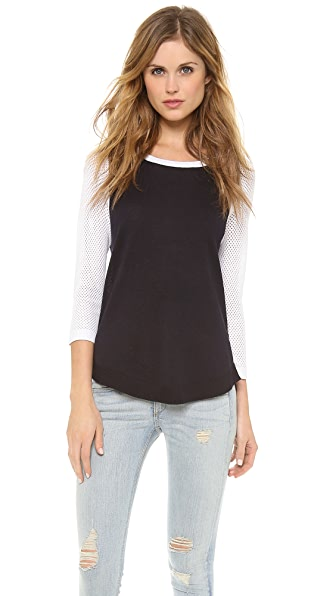 Rag & Bone/JEAN The Lexie Colorblocked Raglan Pullover