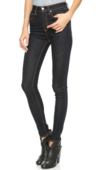 Rag & Bone/Jean Justine High Rise Legging Jeans - Harrow