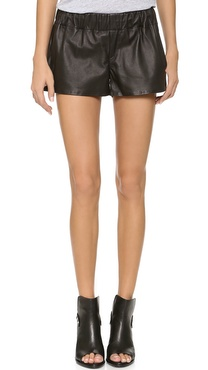 Rag & Bone/JEAN Leather Pajama Shorts