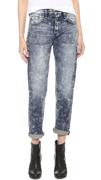 Rag & Bone/JEAN The Marilyn High Rise Rigid Crop Jeans