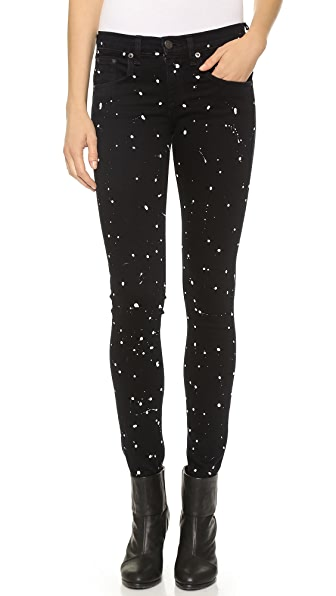 Rag & Bone/JEAN The Splatter Paint Skinny Jeans
