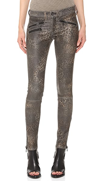 Rag & Bone/JEAN RBW 23 Leather Leopard Pants