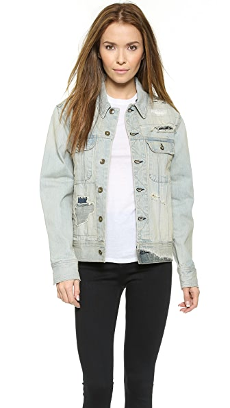 Rag & Bone/Jean The Corey Boyfriend Jacket - Surfer Repair