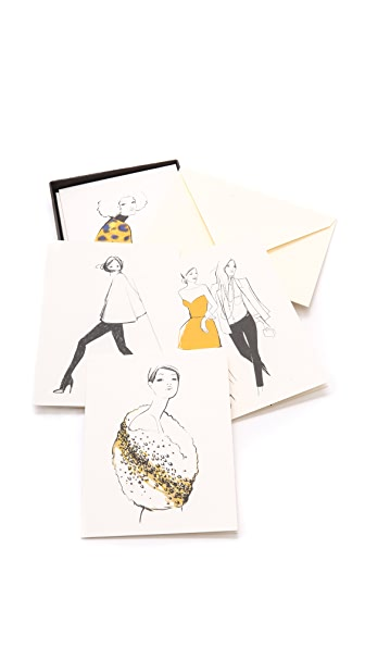 Rifle Paper Co Garance Dore Collection Assorted Girls Greeting Card Set